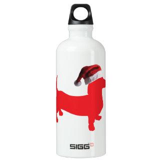 Rouge-Doxie---Et-Père Noël-Casquette Bouteille D'eau En Aluminium
