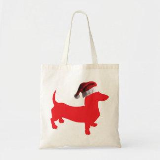 Rouge-Doxie---Et-Père Noël-Casquette Sac