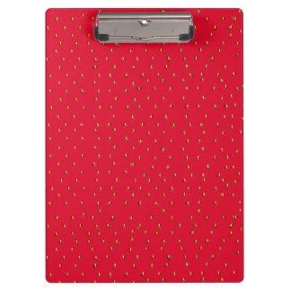 Rouge drôle d'arrière - plan de fraise porte-bloc