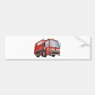 rouge du camion à ordures 3d autocollant pour voiture