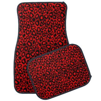 Rouge du poster de animal | de Jaguar Tapis De Sol