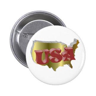Rouge d'USA 3D Badges Avec Agrafe