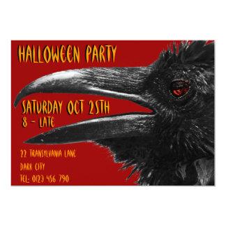 rouge effrayant d'invitation de Halloween de Carton D'invitation 12,7 Cm X 17,78 Cm