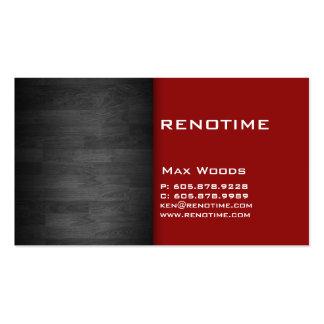 Rouge en bois de carte de visite d'entrepreneur de