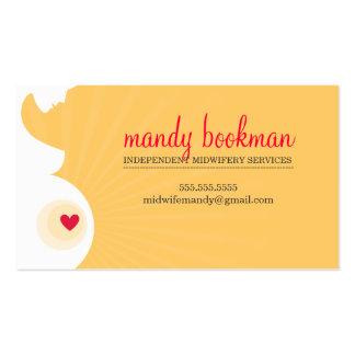 Rouge enceinte de jaune de coeur de silhouette de carte de visite standard