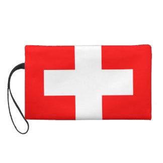 Rouge et blanc suisses de la Suisse d'amour du dra Pochettes Avec Dragonne