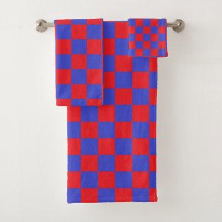 Rouge et bleu Checkered