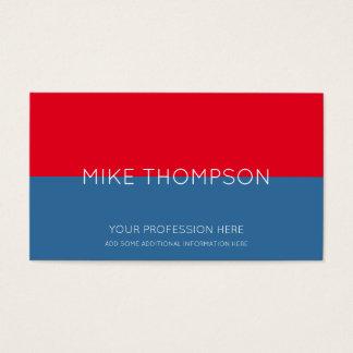 rouge et bleu, simple, frais et moderne cartes de visite