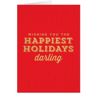 Rouge et carte de chouchou de vacances la plus
