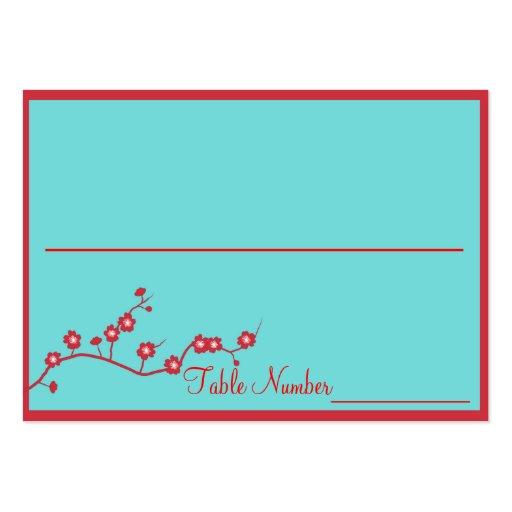 Rouge et cartes florales de nombre de Tableau de m Carte De Visite