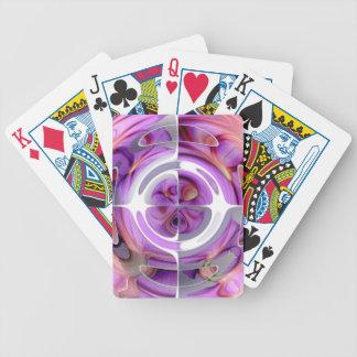 Rouge et collage abstrait de lilas jeu de cartes