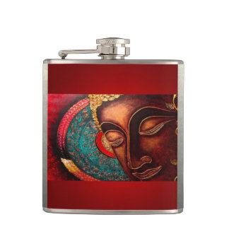 Rouge et or Bouddha Flasques