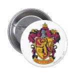 Rouge et or de crête de Gryffindor Badge Rond 5 Cm