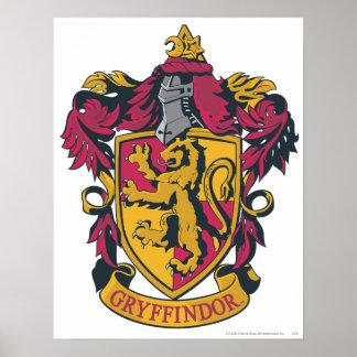 Rouge et or de crête de Gryffindor Affiches