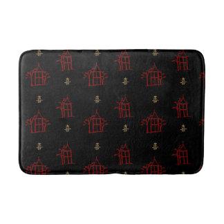 Rouge et tapis de bain de Chinoiserie de pagodas