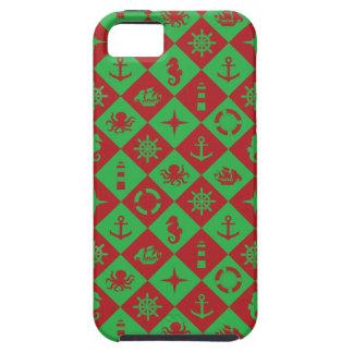 Rouge et vert nautiques coques Case-Mate iPhone 5