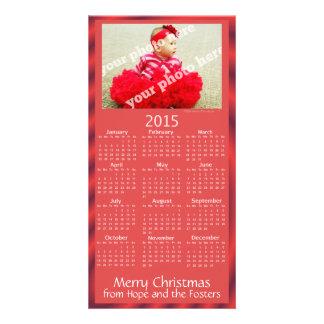 Rouge fait sur commande de carte de Noël de Cartes Avec Photo