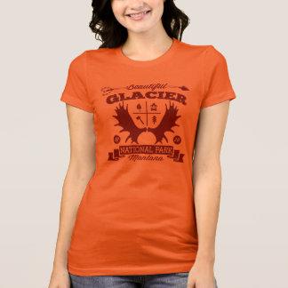 Rouge foncé de campeur de glacier t-shirt