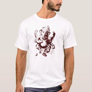rouge foncé de ganesh t-shirt