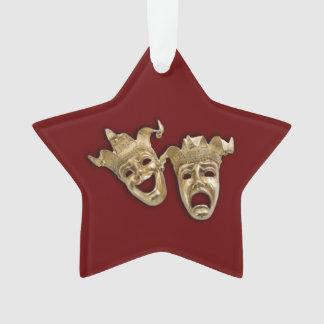 Rouge foncé de masques de théâtre de comédie et de