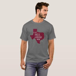 Rouge foncé fort de T-shirt de #Texas d'enfer ou