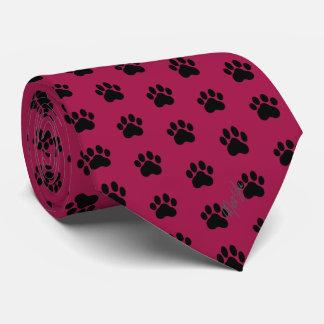 Rouge foncé soyeux de la cravate | de pattes