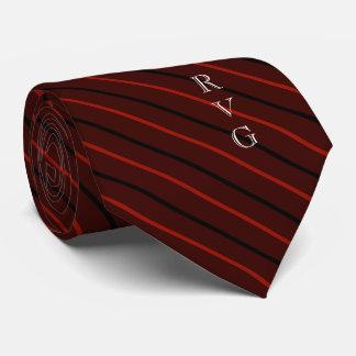 Rouge foncé vétérinaire de symbole d'initiales cravate