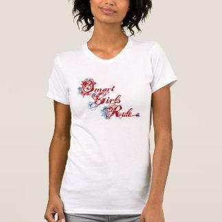 Rouge futé de règle de filles t-shirts