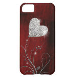 rouge girly de coeur beau coques pour iPhone 5C
