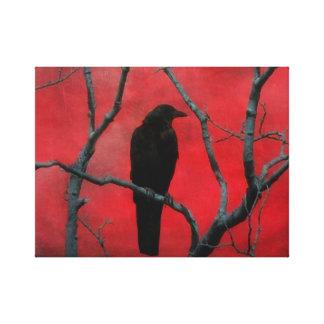 Rouge gothique profond toiles