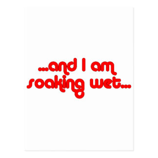 Rouge humide de trempage carte postale