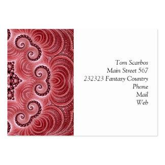 Rouge impressionnant de Kaleido 07 Carte De Visite Grand Format