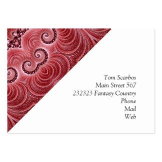 Rouge impressionnant de Kaleido 07 Modèle De Carte De Visite