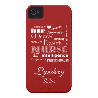 Rouge Infirmière-Attribut-Profond de santé mentale