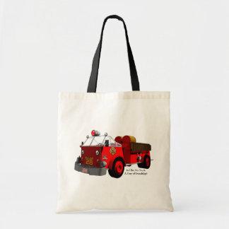 Rouge le camion de pompiers : Une histoire de Tote Bag