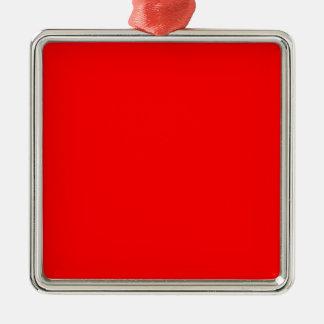 Rouge lumineux riche en couleurs de Web de code du Ornement Carré Argenté