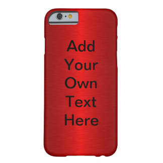Rouge métallique personnalisable coque iPhone 6 barely there