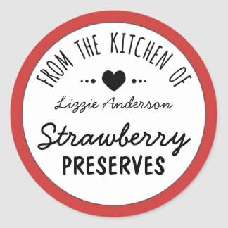 Rouge moderne de la cuisine de l'étiquette sticker rond