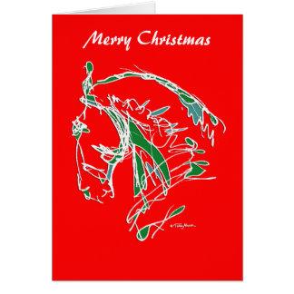 Rouge noble de carte de visage de Joyeux Noël