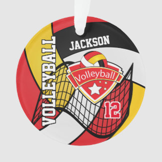 Rouge, noir, blanc et volleyball 2 d'or