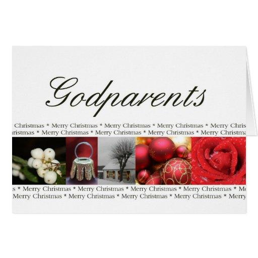 Rouge, noir et blanc de Joyeux Noël de parrains Carte De Vœux