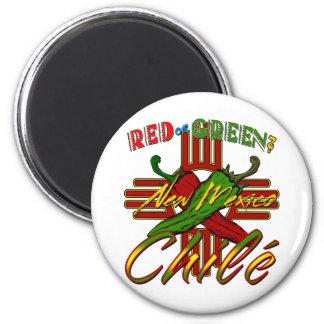 Rouge ou vert ? magnet rond 8 cm