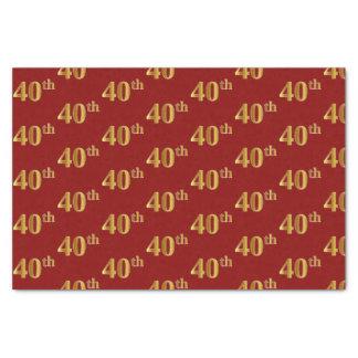 Rouge, papier de soie de soie d'événement d'or