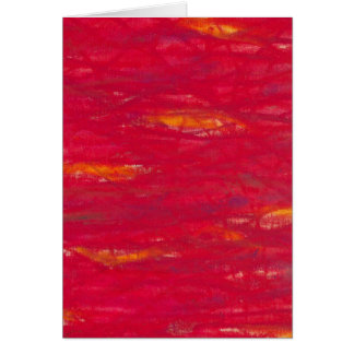 rouge puissant - knallrot carte de vœux