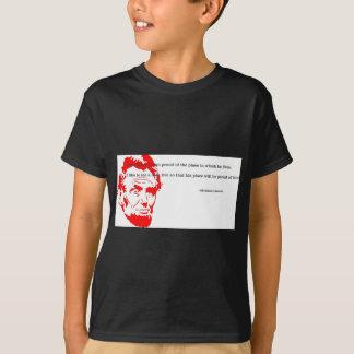 Rouge reconnaissant de citation d'Abraham Lincoln T-shirt