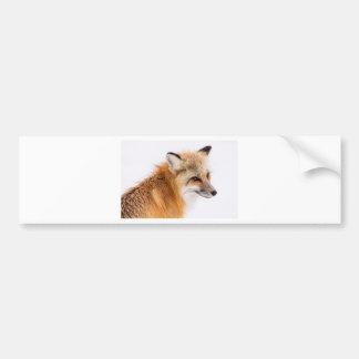 rouge-renard autocollant pour voiture