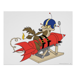 Rouge Rocket d'E. Coyote Launching de Wile Posters