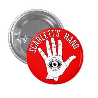 Rouge rond de bouton de la main de Scarlett Badges