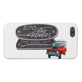 Rouge Rover d'armes à feu et de vagabonds Étuis iPhone 5