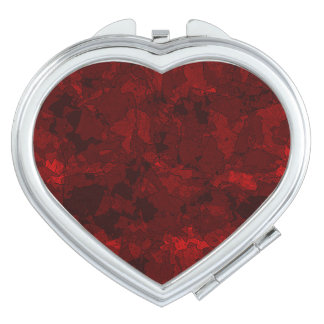 Rouge sang miroirs compacts